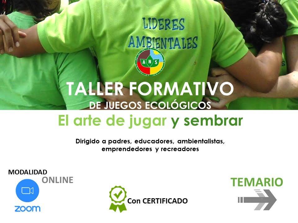 Taller online, juegos ecológicos y educación ambiental.